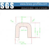 Wholesale External Dimensions 54mm x 51mm Solid Brass Channel Copper U Channel from china suppliers