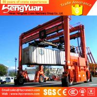 Wholesale 40t rubber tyre stacking container low profile Container gantry crane, staddle carrier from china suppliers
