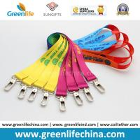 Wholesale ID Card Accessories Fashionable Full Colors Custom Heat Tranferred Printing Polyester Lanyards from china suppliers