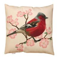 Wholesale Spring Red Bird And Flower Throw Pillow Digital Printing Knife Edge from china suppliers