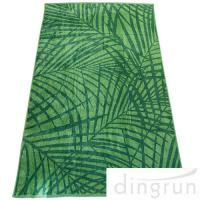 Wholesale Energetic Green Superior Custom Logo Beach Towels Luxurious 100% Cotton 80*160cm from china suppliers