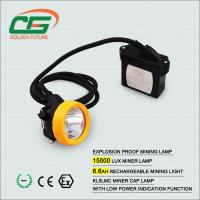 Quality High Brightness 15000 Lux Kl5lm Mining Cap Lamps Under Ground With Cable for sale