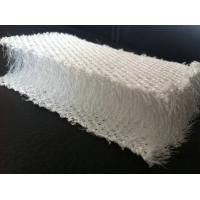 Wholesale Breathable White Plastic 3D Mesh Fabric , Polyester Mesh Fabric For Pillow / Sofa from china suppliers