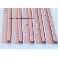 Buy cheap Smooth Matt Anodized Aluminium Curved Edge Tile Trim With Red Copper from wholesalers