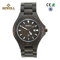 Wholesale Handmade Engraved Men Wooden Watches With Calendar Function And Ebony Case from china suppliers