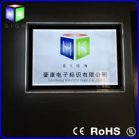 Wholesale Rectangle Wall Crystal LED Light Box / Aluminum Frame Light Box Supler Thin from china suppliers