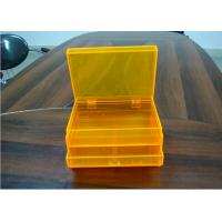 Wholesale Orange 2layers Acrylic Jewelry Display Case With Drawers , Dyeing And Painting from china suppliers