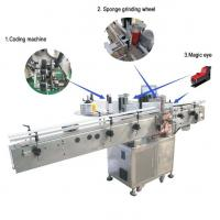Wholesale Large Flat Surface Object Self Adhesive Sticker Labeling Machine Siemens PLC Controller from china suppliers