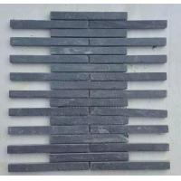 Wholesale Carbon Black Slate Mosaic Pattern Natural Stone Mosaic Wall Tiles Charcoal Slate Mosaic Parquet from china suppliers