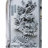 Wholesale Granite Marble Wall Relief Carving Flower from china suppliers