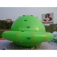 Wholesale Green Color Commercial Grade PVC Tarpaulin Inflatable Saturn Rocker from china suppliers