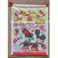 Quality 2018 Top Selling fashion design custom printed plastic drawstring packaging bags/PE string bags for sale