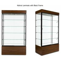 Wholesale Multi Colored Frame Wood And Glass Display Case , Lockable Glass Showcase Cabinet from china suppliers