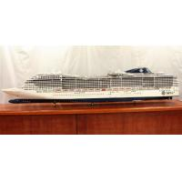 Wholesale Professional Reproduction MSC Divina Cruise Ship Models With Woodiness Hull Material from china suppliers