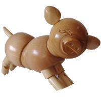 Quality PROMOTION!! THERE ARE SOME ARTIST WOODEN PIGS/RABBITS/GRAGONS/LIZARDS FOR SALE for sale