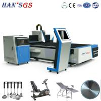 Buy cheap 500W 1kw 2kw Sheet Fiber Laser Cutting Machine For Metal With Double Drive from wholesalers