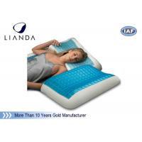 Wholesale Blue Arctic Gel Contouring Memory Foam , Bedroom Cool Bed Pillow from china suppliers