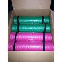 Wholesale green& pink 8mm thick nbr yoga mat pilates mat with strap from china suppliers