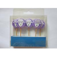 Wholesale Purple Birthday Gift Wax Pick Candles , Lovely Sheep Shape Paraffin Candle from china suppliers