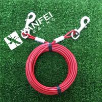 Buy cheap Plastic Coated Steel Wire Rope Tie out Cable For Pets from wholesalers