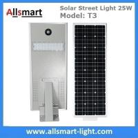 Wholesale 25W Solar Street Light Outdoor All in One Integrated Solar LED Street Light Solar Driveway Lights with / without Pole from china suppliers