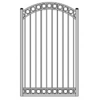 Wholesale Aluminum fence gate 47 inch width garden gate yard door from china suppliers