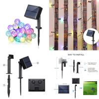 Wholesale Waterproof multi colors 8 modes for switch holiday decoration led outdoor and indoor application fairy light solar strin from china suppliers