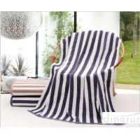 Wholesale Plain Colored Zebra Striped Bath Towels Skin Care Machine Washable 70*140cm from china suppliers