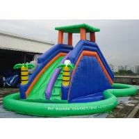 Wholesale Double Inflatable Water Slide Among Pool PVC Tarpaulin Material Water Park Slide from china suppliers