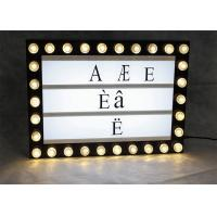 Wholesale A4 Size Luxurious Cinema Light Box With Bulbs Plastic Shell Battery Powered from china suppliers