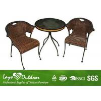 Wholesale Comfortable Outside Patio Furniture Sets , All Weather Wicker Garden Furniture With Cushion from china suppliers