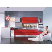 Wholesale Tranditional Chinese Red Modern Kitchen Cabinets , Closeout Kitchen Cabinets from china suppliers