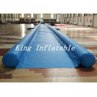 Wholesale Commercial Blue City Big Inflatable Slip N Slide With Single Lane 50m Long Durable from china suppliers