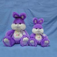 Wholesale 16inch Lovely Purple Easter The Bunnies Rabbit Push Toys For Festival Celebrate from china suppliers
