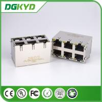 Wholesale KRJ -5921S2X3YGZENL Power Over Ethernet Rj45 Connector Metal Shielded 2X3 G/Y LEDs from china suppliers