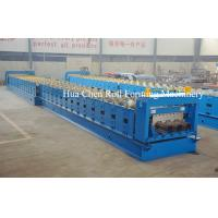 Wholesale PLC Panasonic Steel Floor Deck Roll Forming Machine , Cold Roll Forming Equipment from china suppliers