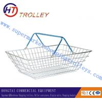 Wholesale Standard Galvanizing Metal Wire Shopping Baskets With Handles Silver Color from china suppliers