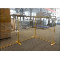 Construction Site Canada Temporary Fencing / Steel Welded Wire Mesh Custom Color