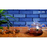 Wholesale HOT SALE hand- made heat resistant borosilicated or pyrex microwave glass tea set microwave glass pot glass tea sets from china suppliers
