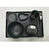 Wholesale Imitation Porcelain Dinnerware Sets Japanese And Korea Series Tableware Black Melamine from china suppliers