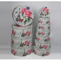 Wholesale Environmentally Friendly Round Gift Boxes With Lids White Flower And Tower Design from china suppliers