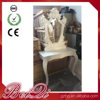 Wholesale Princess Salon Mirror for Barber Shop Furnture Wood Mirror Table Luxury from china suppliers