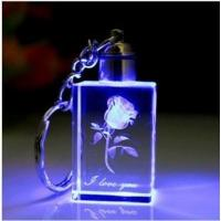 Wholesale LED Crystal Keychain with flower from china suppliers