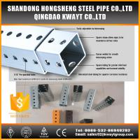 Quality Outdoor steel traffic galvanized perforated square sign post for sale
