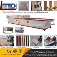 Wholesale custom pvc carved wooden doors furniture vacuum membrane press machine from china suppliers