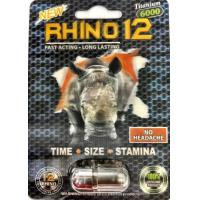 Wholesale Rhino 12 Titanium 6000 Natural Male Libido Enhancement Pills Fast Erection from china suppliers