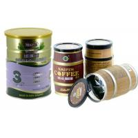 Wholesale Coffee Powder Empty tin plate cans , metal canisters with easy open lid from china suppliers