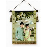 Wholesale Super nice full color digital wedding picture printing service, fabric with wooden pole from china suppliers