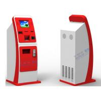 Wholesale White Red Bill Payment Kiosk , UPS Card Vending Dispenser Ticketing Exchange Volchers Device from china suppliers