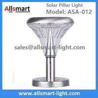 Wholesale 10 Inch 21LED Stainless Steel Solar Pillar LED Pathway Lights Path Modern Look Yard Garden Landscape Sidewalk Lamp from china suppliers